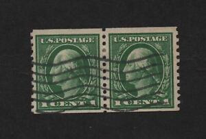USA 443 (Perf 10 Vert) Pair, used  ..  2021 Scott=$135.00