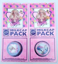 Vintage 1995 Mattel Barbie Authentic POG Milkcap Packs Unpunched New Old Stock