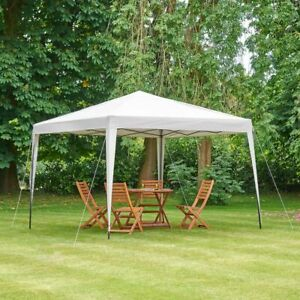 Pop-Up Gazebo Ivory 3 x 3m Pop Up Garden Outdoor Party Portable Picnic Canopy