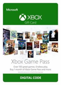 Game Pass 1 Month Trial Subscription Xbox One CodePLEASE READ DESCRIPTION AA11
