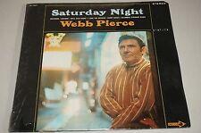 "WEBB PIERCE ""Saturday Night"" RARE EX/NM 1969 DECCA STEREO LP in shrink HAL RUGG"