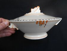 Vintage BURLEIGH WARE Art Deco ZENITH Lidded Dinner Tureen (Free UK P&P)
