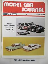 Model Car Journal  Magazine   December 1990    The Gorbymobile/Police Car Decals