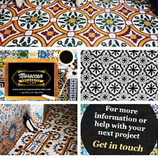 Moroccan tiles handmade in our own workshop in marrakech.