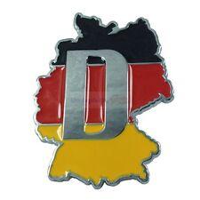 Germany DE Deutschland Land Flag Metal Hood Front Grille Grill Badge Emblem