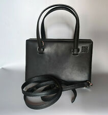 LOEWE postal small leather handle bag black