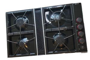 Jenn-Air Expressions Black Gas Downdraft Cooktop CVGX2423B Stovetop
