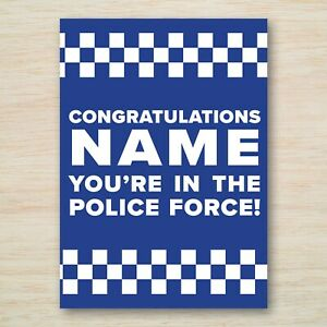 Personalised Police Force Passing Out Card Congratulations you're in the Police