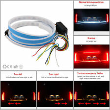 Car LED Rear Trunk Tailgate Stream Flow Brake Reverse Turn Signal DRL Light RGB