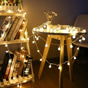 Christmas Fairy Garland LED Ball String Light Holiday Wedding Outdoor Decoration