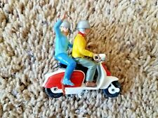 Vintage Scooter/Motorcycle Diecast Toy/Passengers