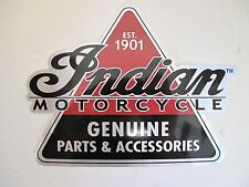 "INDIAN MOTORCYCLE GENUINE PART & ACCESSORIES STICKER DECAL 8"" x 6"""