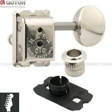 Gotoh SDS510-HAPM-05M LOCKING 6-In-Line Vintage Tuners w/ CARD Protectors NICKEL