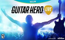 Guitar Hero Live  bundle with Game and Guitar  Nintendo Wii U