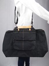 Karine Dupont - Grand sac de voyage bandoulière 3 pochettes amovibles - Noir