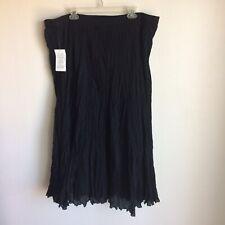 Jessica London Black Long Twist Skirt Size 30