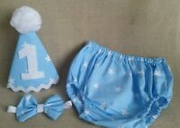 **Stocked Item ***Boys Baby Photo Prop Blue Outfit - 1st Birthday/Cake Smash ***