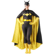 Ladies batman batgirl costume superhero Fancy Dress bodysuit Halloween Zentai