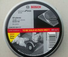 BOSCH STANDARD FOR INOX CUTTING DISCS , 10 PIECES WA 60T BF 105, 2608603464-879