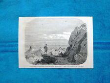 Gravure Année 1863 - Point culminant de l'Abou-Senoum, Kordofan (Soudan-Sudan)