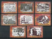 INDIA 2017 Freedom Movement Mahatma Gandhi Quit India stamp set 8v MNH