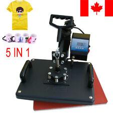 5in1 Digital Heat Press Transfer Machine T-Shirt Mug Cap Sublimation Printer CA!