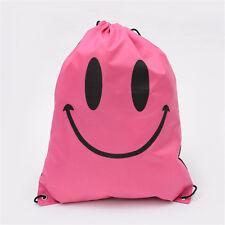 Emoji Drawstring Back Pack Cinch Sack Waterproof Gym Tote School Sport Shoe Bags