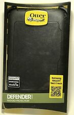 "Genuine OtterBox Defender Samsung Galaxy Tab 3 7"" Shell Case Cover Stand BLACK"