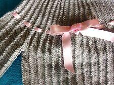 NOUVEAU bébé,brassière-chaussons NAISSANCE rose et gris laine hypoallergénique🐥