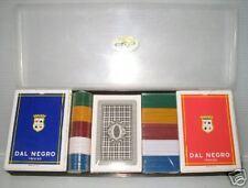 SCATOLA+2 MAZZI POKER+REGIONALI+FICHES DAL NEGRO