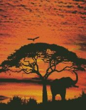 African Sunset II - Cross Stitch Chart/Pattern/Design/XStitch
