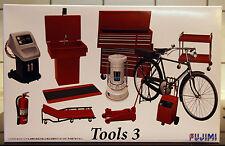 Garage & Tools Tools 3 Werkzeug, Feuerlöscher, Fahrrad,  1:24, Fujimi 113739