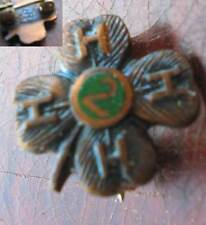 Vtg 4-H Club Bronze 2 Year Pin