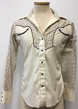 WESTERN TRENDS PANHANDLE SLIM VINTAGE WOMENS BLOUSE SZ 14 US MADE IN USA