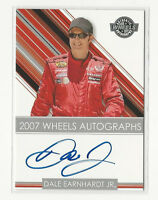 Dale Earnhardt Jr. 2007 Wheels Authentic Autographs NASCAR Racing Auto Card