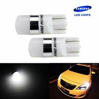 2x T10 W5W  2 SMD 5W LED Voiture Veilleuse Ampoules Lampe Blanc 6000K 12V