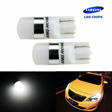 2x T10 W5W SAMSUNG 2 SMD 5W LED Voiture Veilleuse Ampoules Lampe Blanc 6000K 12V