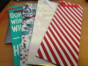 10 x bottle gift bags- some new some used
