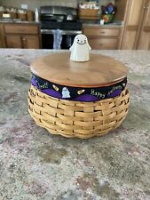 longaberger basket with lid Halloween