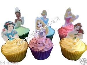 Disney Princess Princesses Stand Up Cupcake Toppers Topper Edible Rice Paper