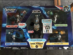 Voltron Legendary Defender Mega Set Hyperphase 5 Set Lion To Form 16 Inch Rare