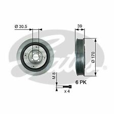 GATES TVD1013A BELT PULLEY CRANKSHAFT