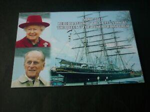 The Queen & Duke of Edinburgh postcard, Rededication of Cutty Sark, April 2012
