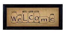 Mason Jar Welcome Old Stitchery Modern Farm House decor NEW 12342