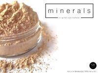 Mineral Foundation Loose Powder Bare Make Up Matte OR Satin Sheer Full Coverage