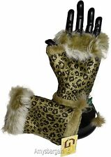 Finger-less Gloves Winter Gloves Hand/Wrist Warm leopard printed One Size Gloves
