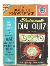 Vintage 1961 Transogram Electromatic Dial Quiz The Book Of Knowledge #3887 USA
