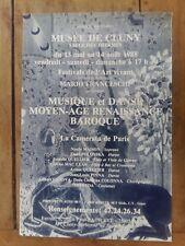 Affiche MUSEE DE CLUNY Festivals de l'art vivant Mario FRANCESCHI *