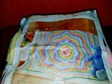 """Mary Maxim Rainbow Blossom Crochet Blanket Kit 99227N Size 40"""" dia."""