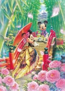 Tenyo X Disney Puzzle Mickey & Minnie Japanese Style Wedding 266pc